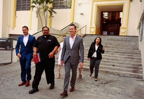 California Gov. Gavin Newsom kicks off El Salvador tour to offer alternative to Trump's 'demoralizing' rhetoric