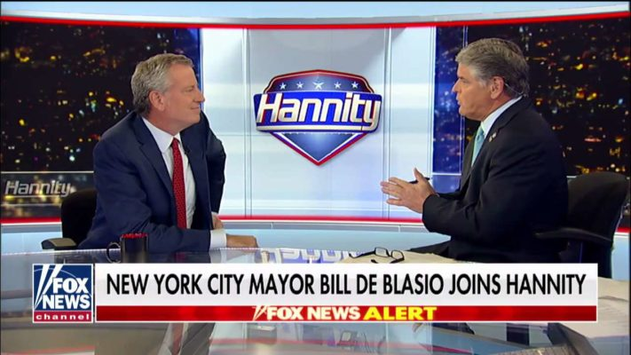 De Blasio tells Hannity he supports 'border security, not walls': 'There's no invasion'